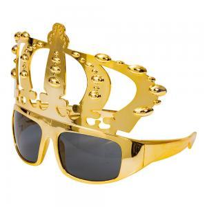 Glasögon med krona i guld