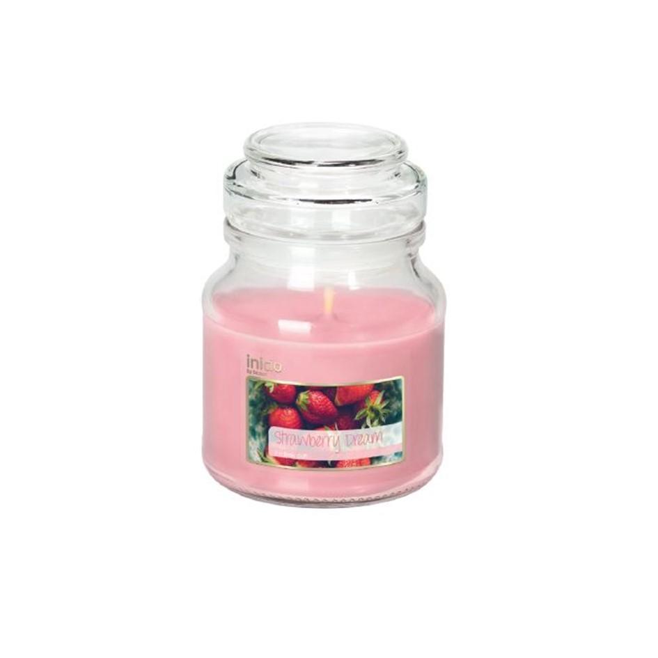 Inicio doftljus i glas strawberry