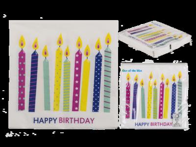 Servett födelsedagsljus