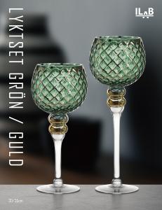 Lyktset 2-del grön/guld