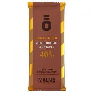 Malmö chokladfabrik ö-serien 40% mjölkchoklad och karamell