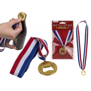 Medalj flasköppnare