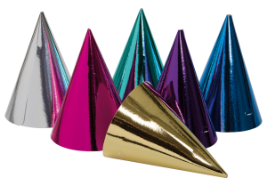 Partyhattar blandade färger