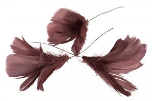 Fjäder blom mörkrosa