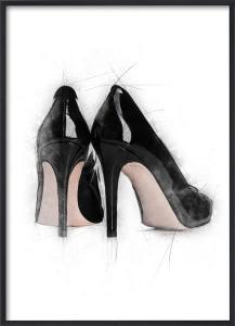 Poster 30x40 Black high heels