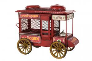 Popcornvagn röd metall