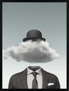 Poster 30x40 Pastell cloud hat