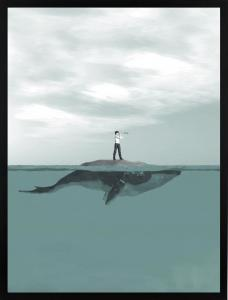 Poster 30x40 Whale