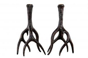 Ljusstake renhorn stor