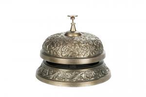 Ringklocka antik mässing stor
