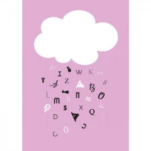 Poster 30x40 moln rosa