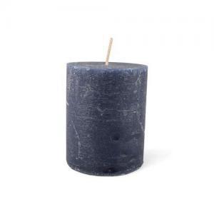Blockljus rustik blå