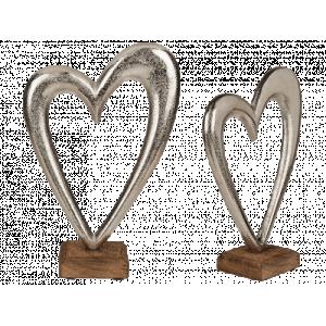 Silverhjärta på fot