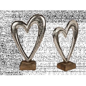 Silverhjärta på fot liten
