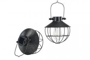 Solcellslampa rund hängande