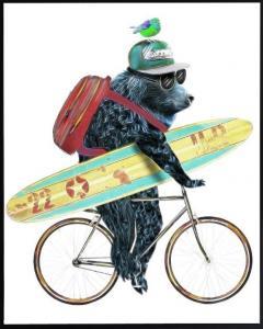 Poster 30x40 Blue surfer bear