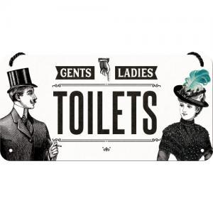 Hängande skylt toilets