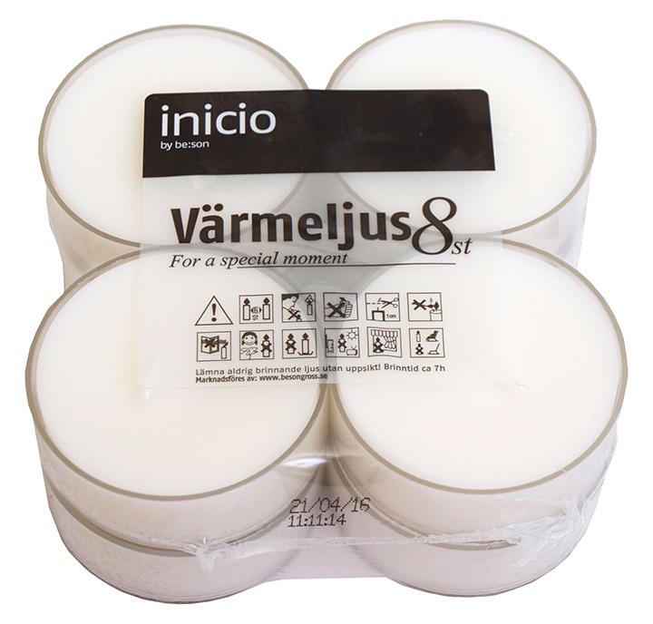 Värmeljus maxi 8-pack