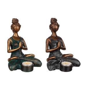 Ljushållare yoga kvinna