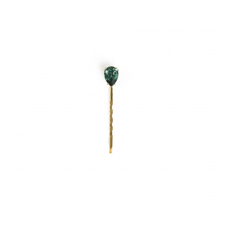Single Drop Bobby Pin Emerald