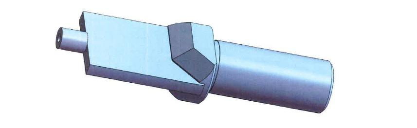 Flat drill blank brazed 30 mm long