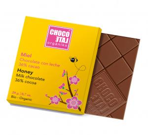 Milk Chocolate Honey (ekologisk ES-ECO-001-CM),...