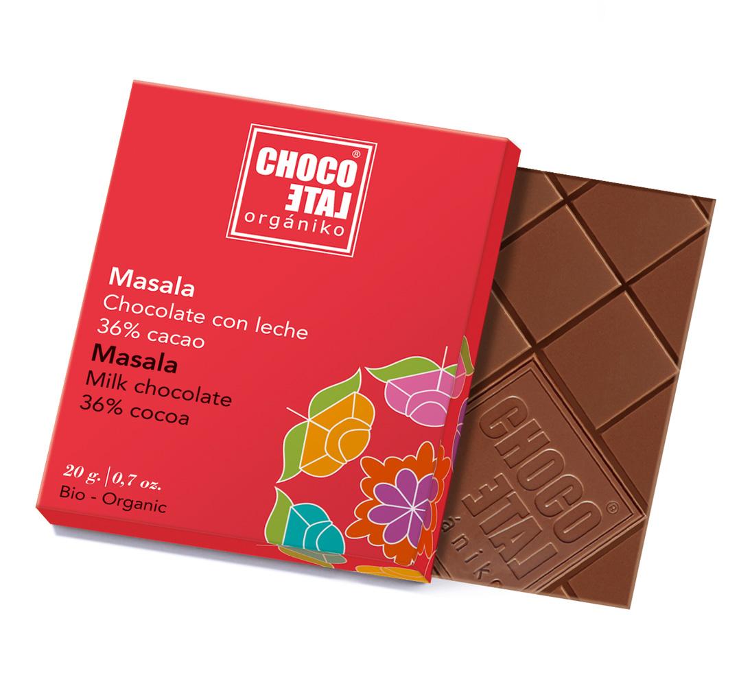 Milk Chocolate Masala (ekologisk, ES-ECO-001-CM...