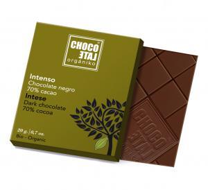 Dark Chocolate 70% (ekologisk, ES-ECO-001-CM), 20g