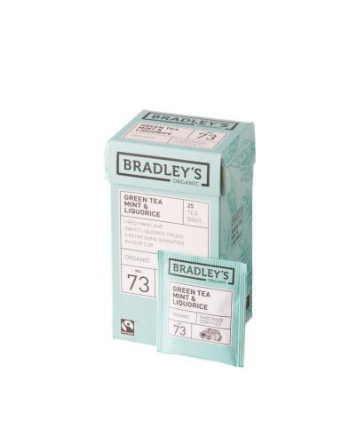 Bradley's Green Tea Mint & Liquorice(eko NL-BIO...