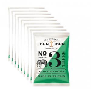 John & John Crisps 3 Aspall Cyder Vinegar, 40 g x 24