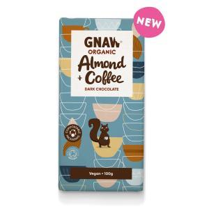 Organic Dark Chocolate Almonds & Coffee. GB-ORG-05, 100g
