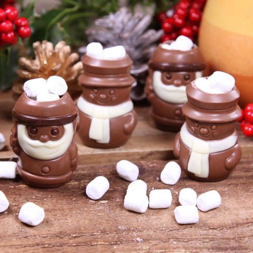 GNAW Hot Choc Santa and Snowmen Bombes, 4 pack