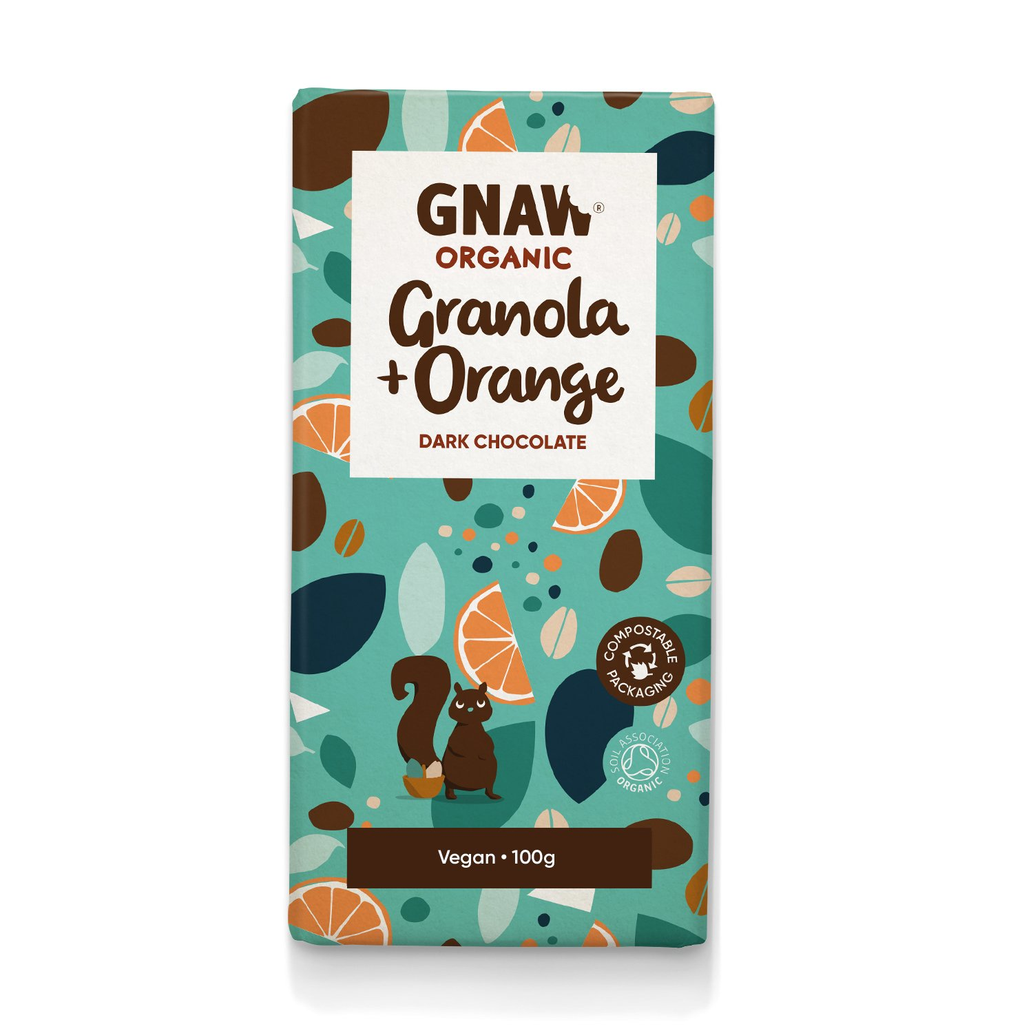 Organic Dark Chocolate With Orange & Granola 100g