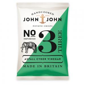 John & John Crisps 3 Aspall Cyder Vinegar, 40g