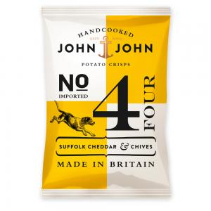 John & John Crisps 4 Suffolk Cheddar & Chives, 40g