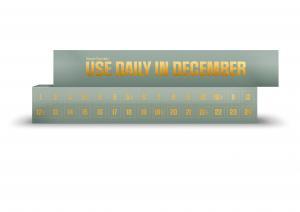 CHRISTMAS CALENDAR, GREEN, 30 pcs: 300 g