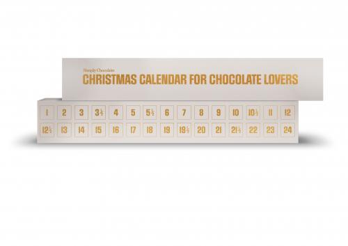 CHRISTMAS CALENDAR, WHITE, 30 pieces 300 g