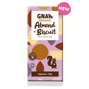 Organic Milk Chocolate with Almonds & Biscuits