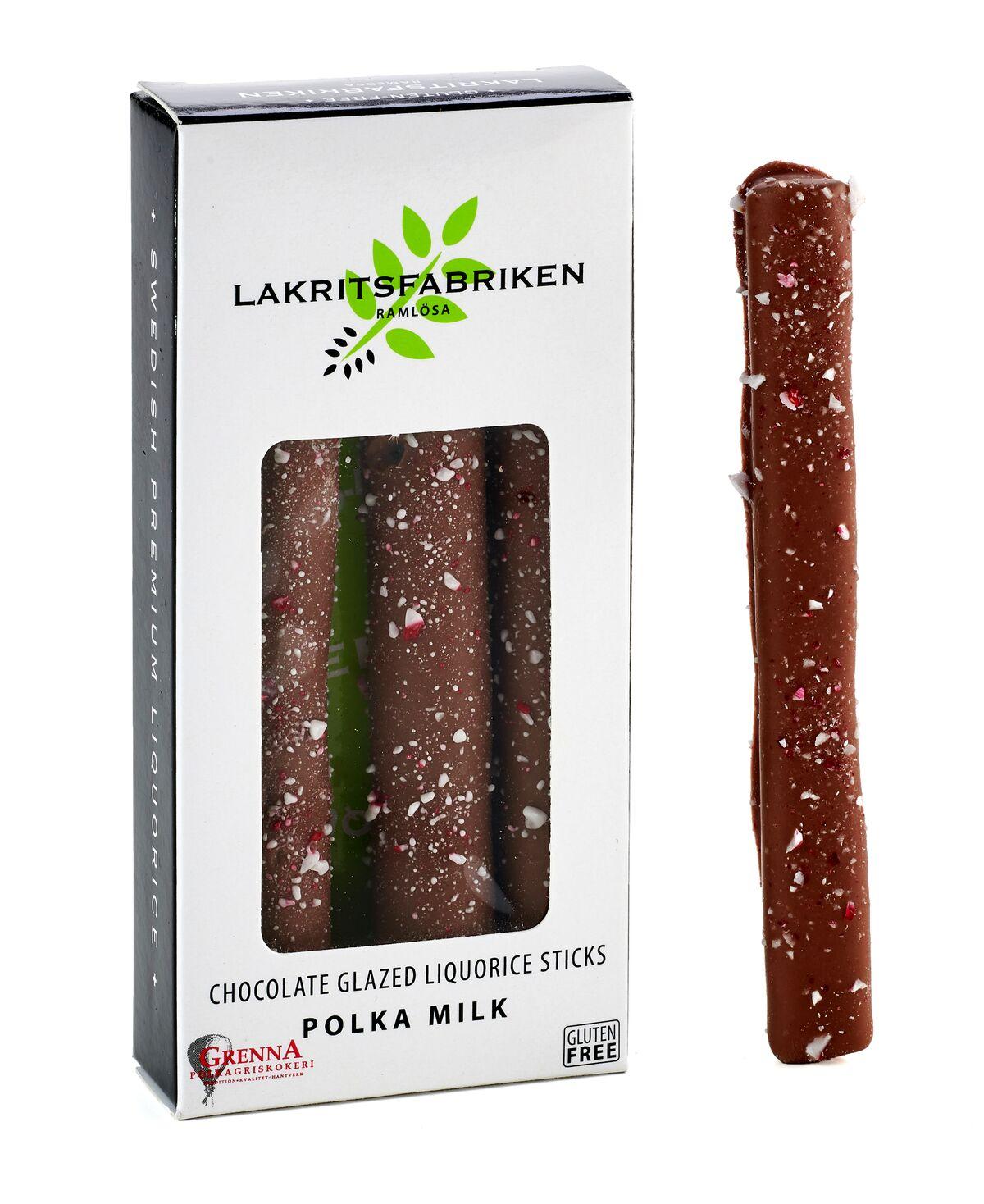 Liquorice Sticks Milk Chocolate & Polka, 45g