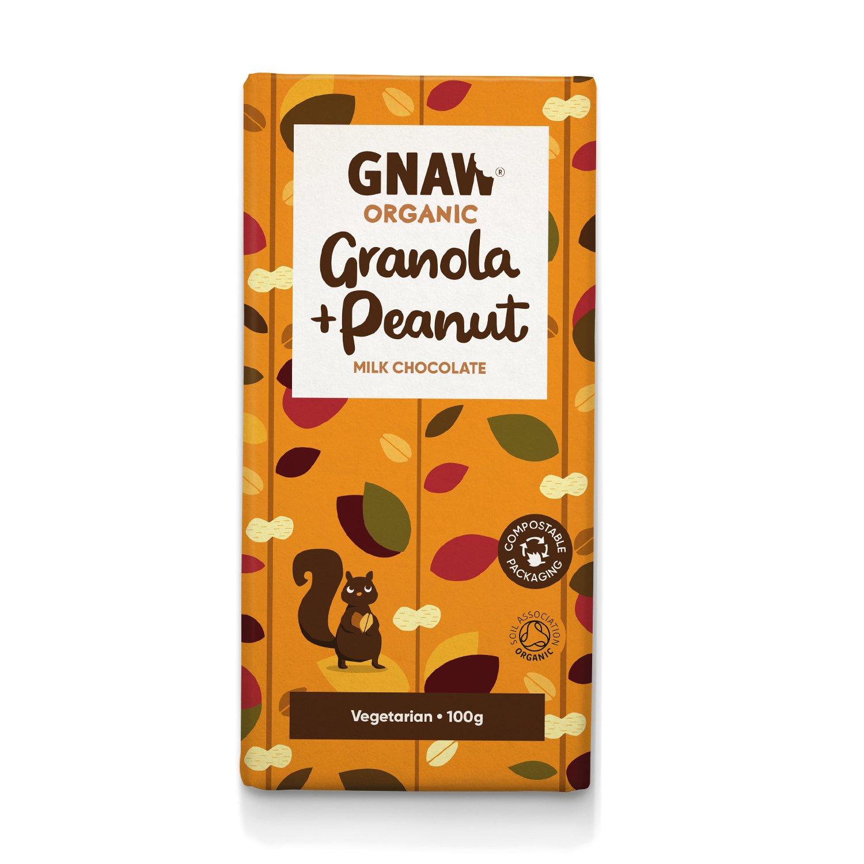 Organic Milk Chocolate With Peanuts & Granola GB-ORG-05 100g