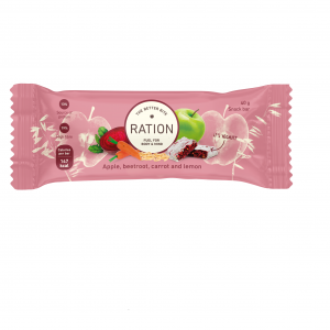 Ration Bar Apple, Beetroot, Carrot & Lemon, 40 g