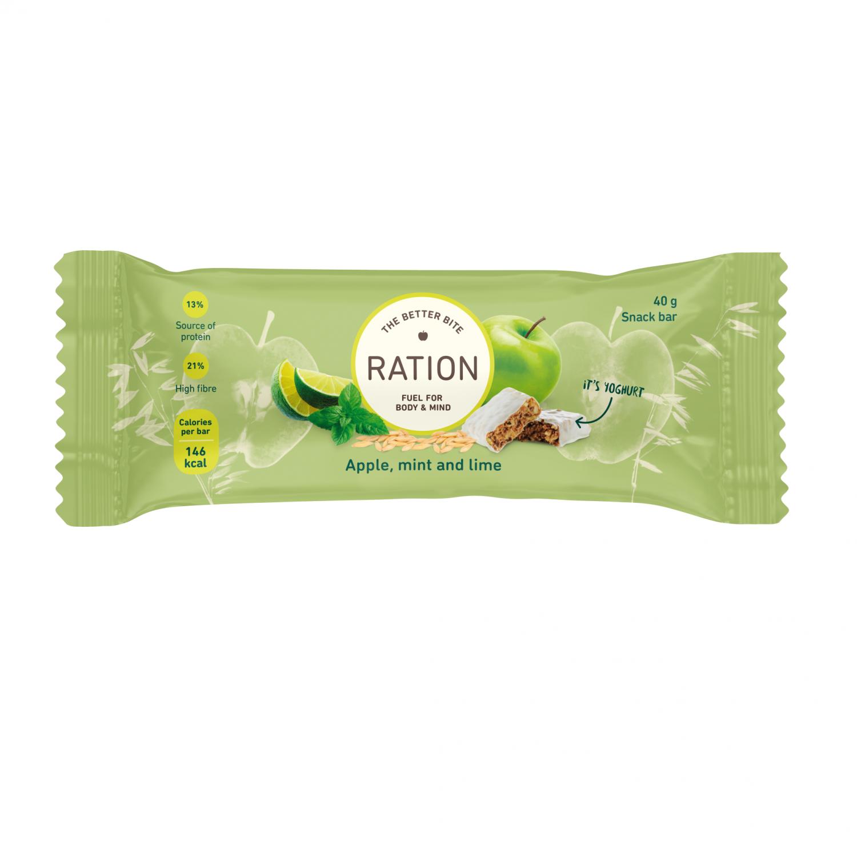 Ration Bar Apple, Mint & Lime, 40 g