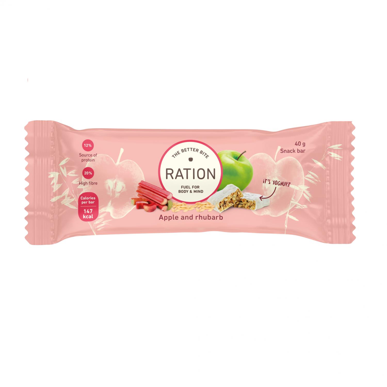 Ration Bar Apple & Rhubarb, 40 g