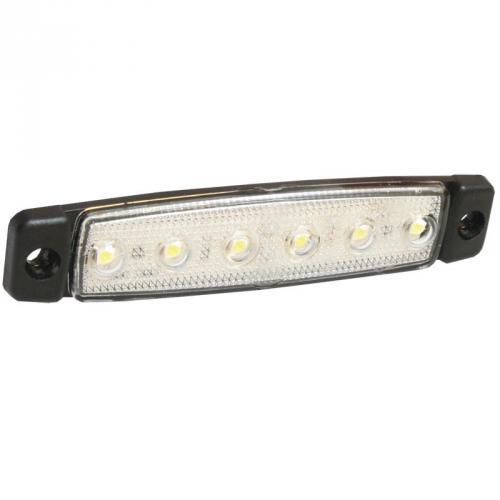 Positionslampa 6-LED Vit
