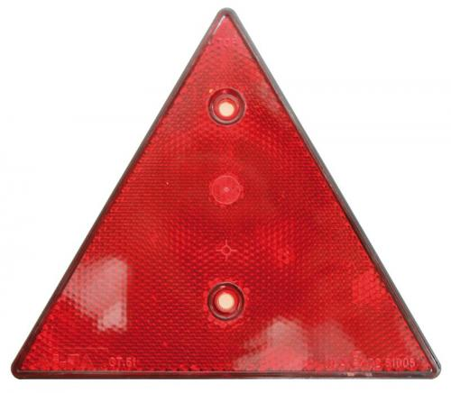 Reflex triangel röd
