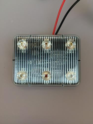 Blixtljus 6 LED m. klister