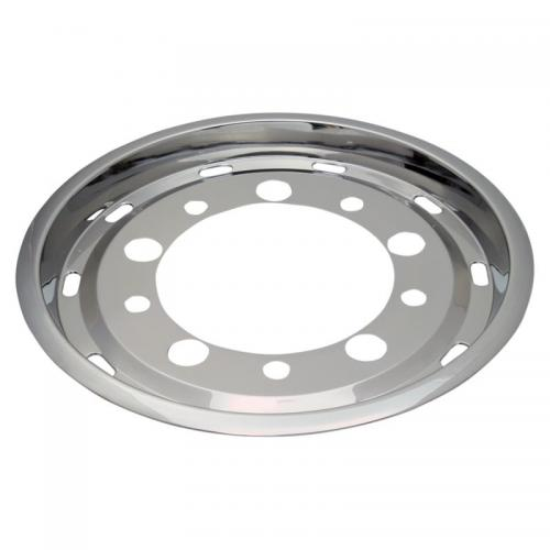 "Wheel cover 22,5 x 11,75"" stainless steel"