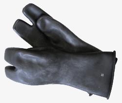 3-fingerhandskar Latex