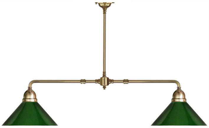 Taklampa Spelbordslampa Grön Skärm