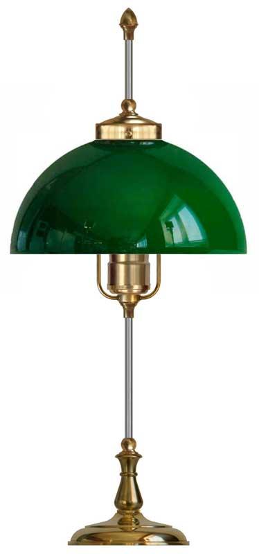 Bordslampa Swedenborg mässing, grön skärm